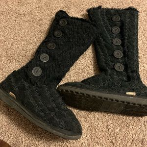 Muk Luk sweater boots!